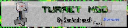 Turret (пулеметы) мод для minecraft 1.2.5