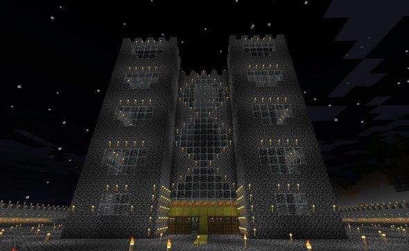 красивый замок в Minecraft