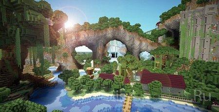 [Карта] Abandoned Kingdom [Custom terrain] с деревнями, руинами и рудой