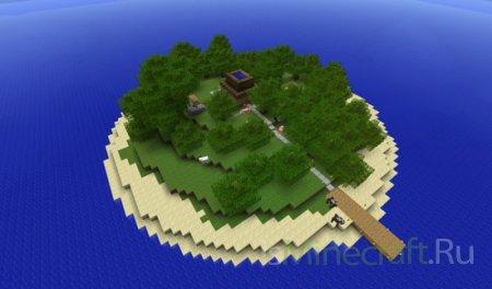 Escape Island - карта с головоломками для Minecraft