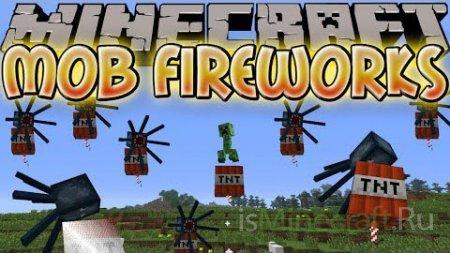 Mob Fireworks [1.6.4] - феерверк из мобов