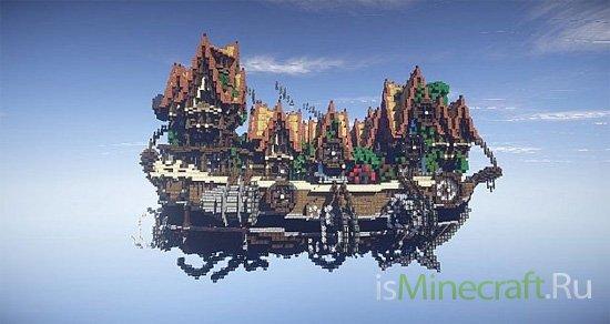 The Flying Village - Steampunk Airship [Объект]