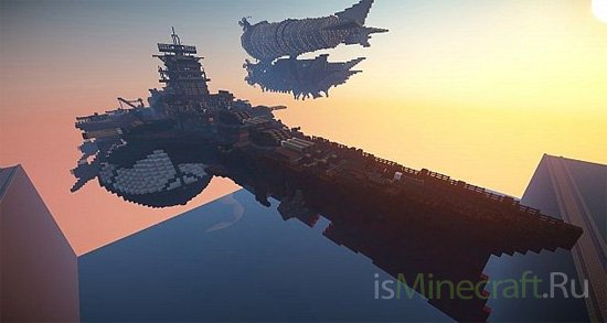Flying Steampunk Battleship [Объект]