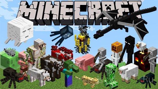 Бои и сражения с монстрами в Minecraft
