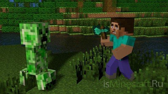Minecraft: тактика ведения боя с крипером