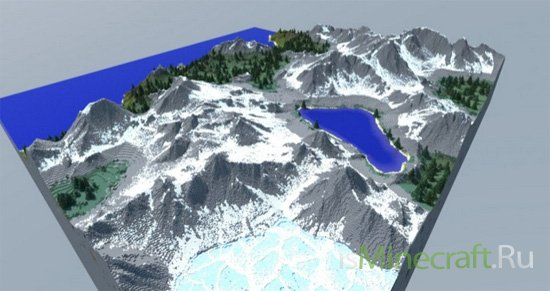 1000x1000 Mountainous Terrain Map [Карта]